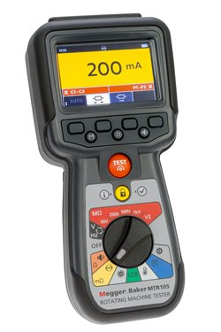 Megger MTR105 handheld dedicated static motor tester